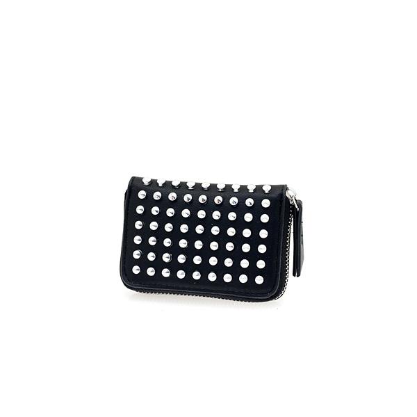L103 # Μικρό Γυναικείο Πορτοφόλι με Τρουκς και Φερμουάρ χρ. Μαύρο
