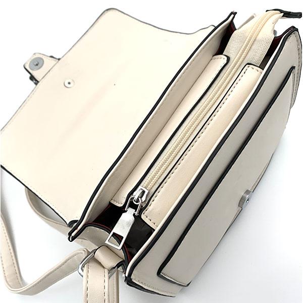 Art 5279 Μικρή Κροκό Τσάντα χρ. Μπεζ