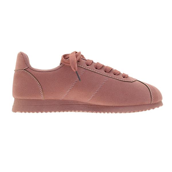 5877 # Σουέτ Sneakers χρ. Dark Pink