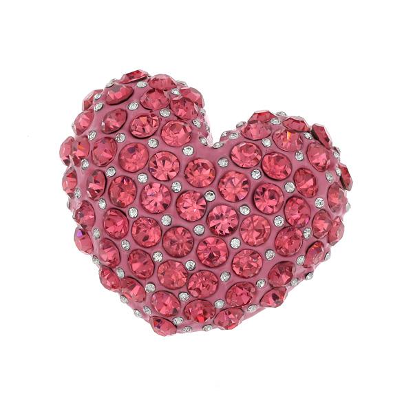 Dt 363 Καρδιά με Στρας χρ. Ροζ