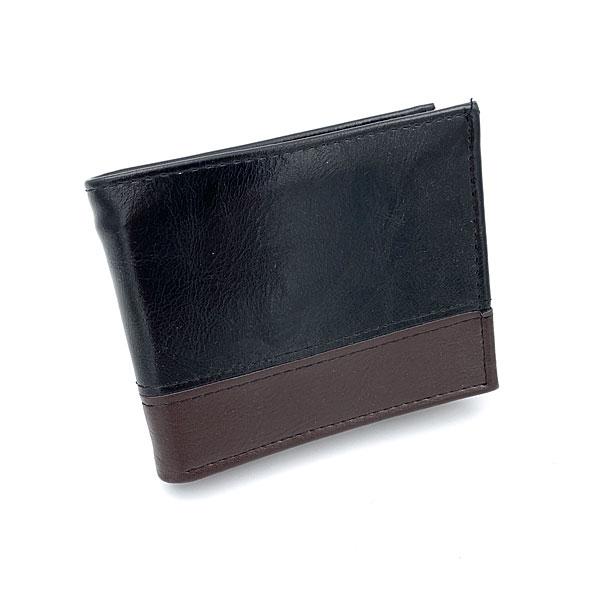 0604 Ανδρικό Πορτοφόλι χρ. Μαύρο / Καφέ