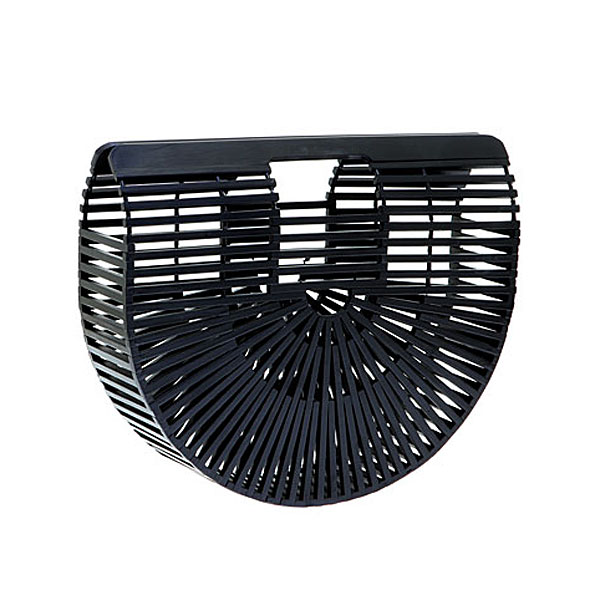Jh 006 # Τσάντα από Bamboo χρ. Μαύρο