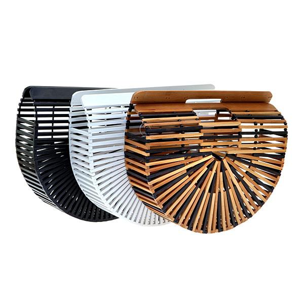 Jh 006 # Τσάντα από Bamboo χρ. Μπεζ / Καφέ