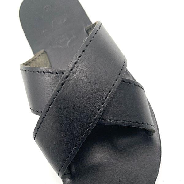 Art 1308 - Δερμάτινα Σανδάλια Χιαστί χρ. Μαύρο - ΠΡΟΣΦΟΡΑ