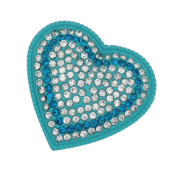 Dt 297 Καρδιά με Στρας χρ. Aquamarine