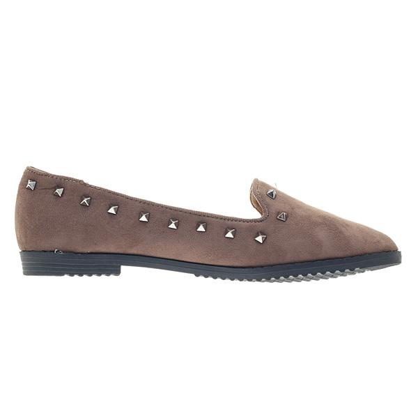 2866 # Σουέτ Loafers με Τρουκς χρ. Πούρο