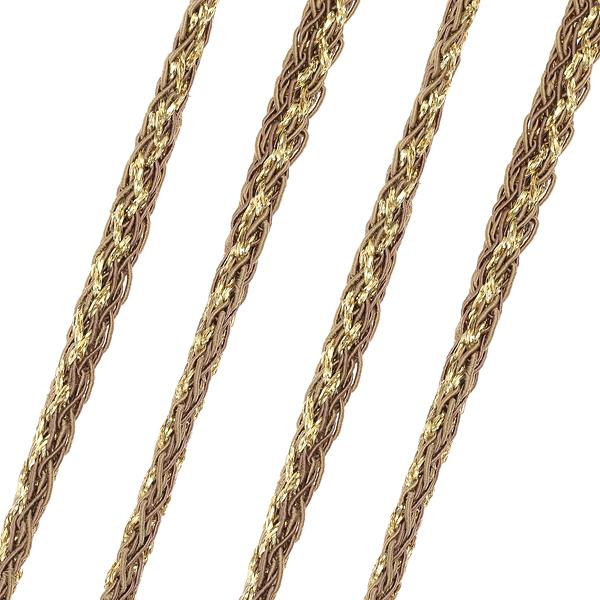 Art 424 Κορδονέτο Χωρίς Ψίχα 6 mm χρ. Πούρο / Χρυσό # 56 - Gold