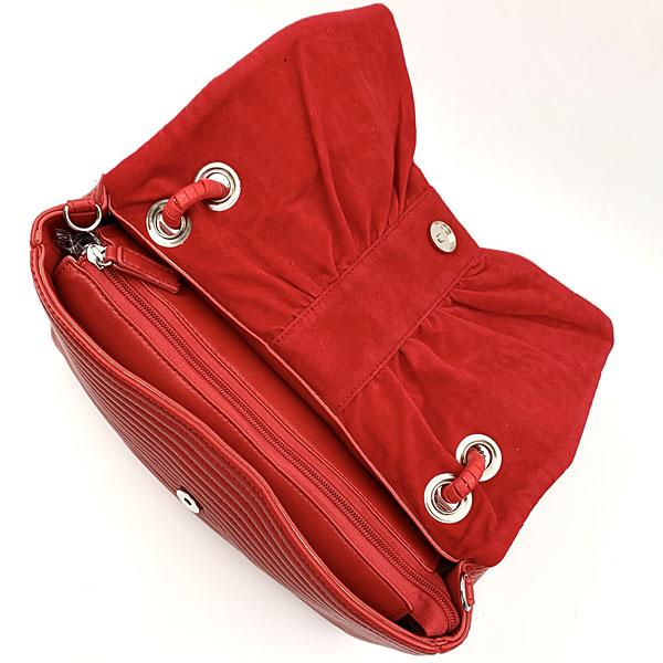 1813-2 Τσάντα Χειρός χρ. Κόκκινο (Χειμώνας 2020 - 2021)