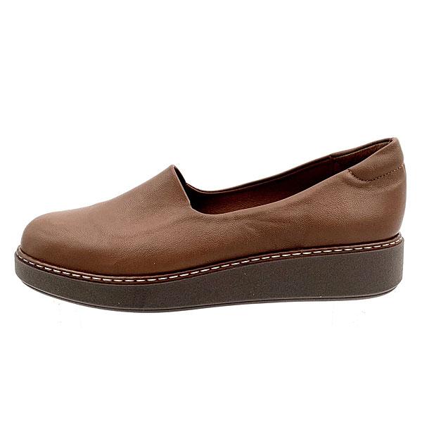 160 - Loafers από Συνθετικό Δέρμα χρ. Ταμπά (Χειμώνας 2020 - 2021)