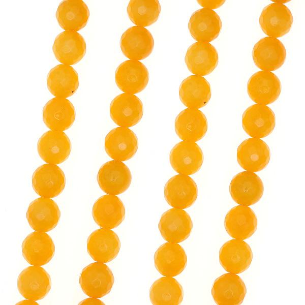 Ημιπολύτιμη Πέτρα 12 mm. χρ. Κίτρινο Μελί