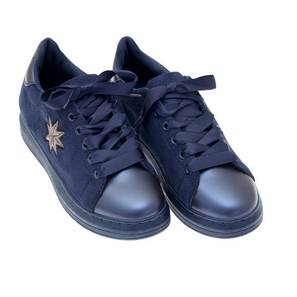 8430 # Σουέτ Sneakers με Αστέρι χρ. Μπλε