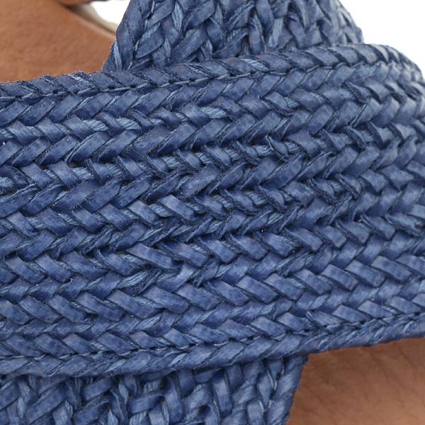 # 536 Χιαστί Πλατφόρμα με Πλεχτή Τρέσσα χρ. Μπλε