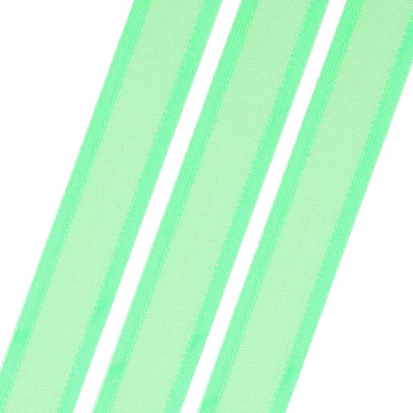Κορδέλα από Οργάντζα Σατέν 15mm. χρ. Πράσινο # 124