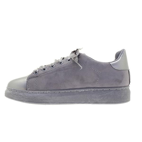 8430 # Σουέτ Sneakers με Αστέρι χρ. Γκρι
