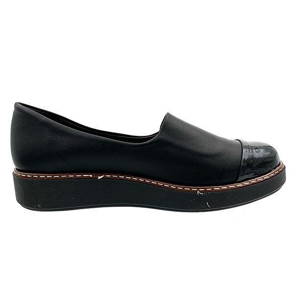 165 - Loafers από Συνθετικό Δέρμα με Λεπτομέρεια Λουστρίνι χρ. Μαύρο (Χειμώνας 2020 - 2021)