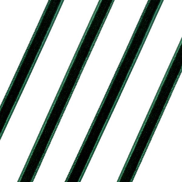 Βελούδινη Κορδέλα 6mm. χρ. Πράσινο # 165 (Νέα Παραλαβή)
