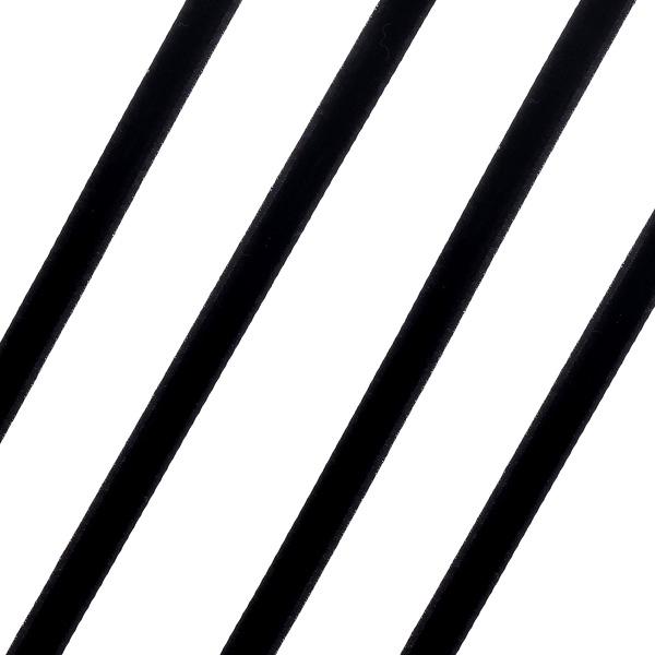 Βελούδινη Κορδέλα 6mm. χρ. Μαύρο (Νέα Παραλαβή)