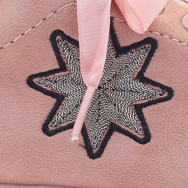 8430 # Σουέτ Sneakers με Αστέρι χρ. Ροζ
