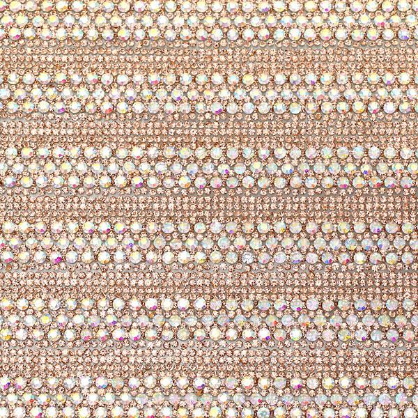D 361 Φύλλο Στρας χρ. Light Peach / Crystal Ab (2.5 εκατοστά)