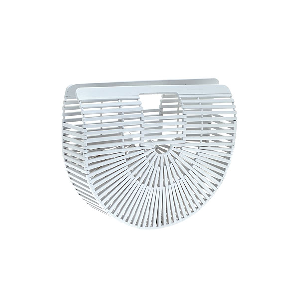 Jh 006 # Τσάντα από Bamboo χρ. Λευκό