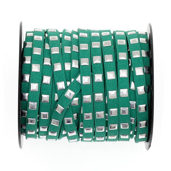 Σουετίνη 7 mm με Τετράγωνο Τρουκ χρ. Πράσινο