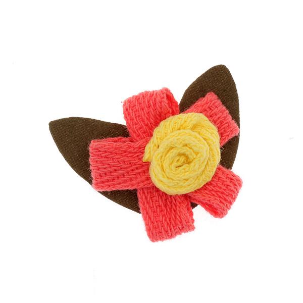 Art 5196 Μικρό Υφασμάτινο Λουλούδι χρ. Κοραλί # 5
