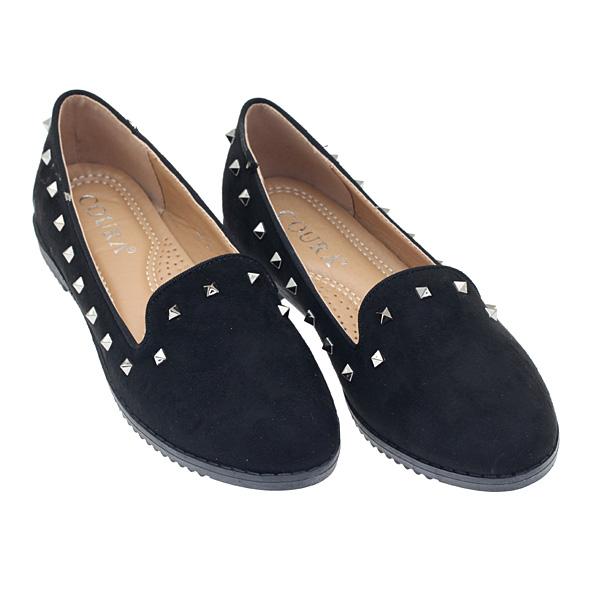 2866 # Σουέτ Loafers με Τρουκς χρ. Μαύρο