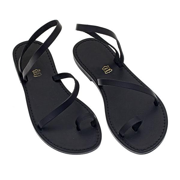 Δερμάτινο Σανδάλι Ίος χρ. Μαύρο (New Collection 2019)