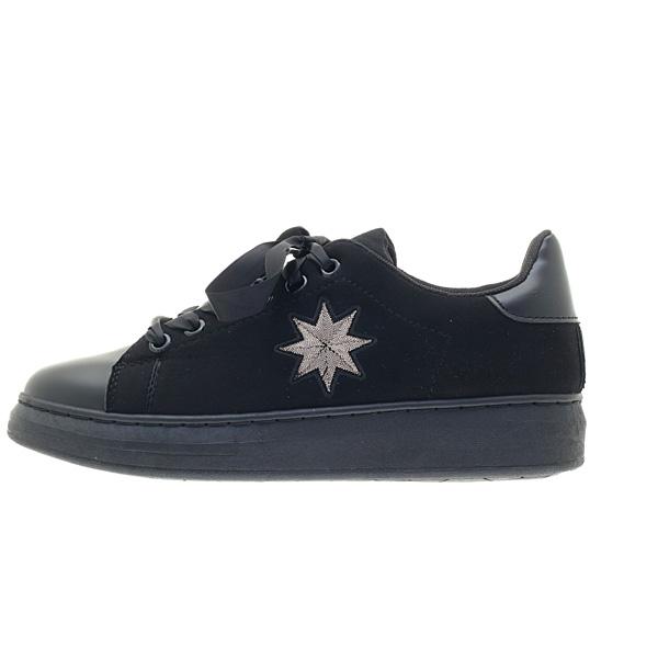 8430 # Σουέτ Sneakers με Αστέρι χρ. Μαύρο
