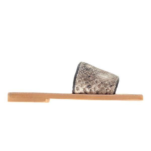 Προσφορά Δερμάτινο Σανδάλι Σύβοτα με Βαμβακερό Καμβά # 15