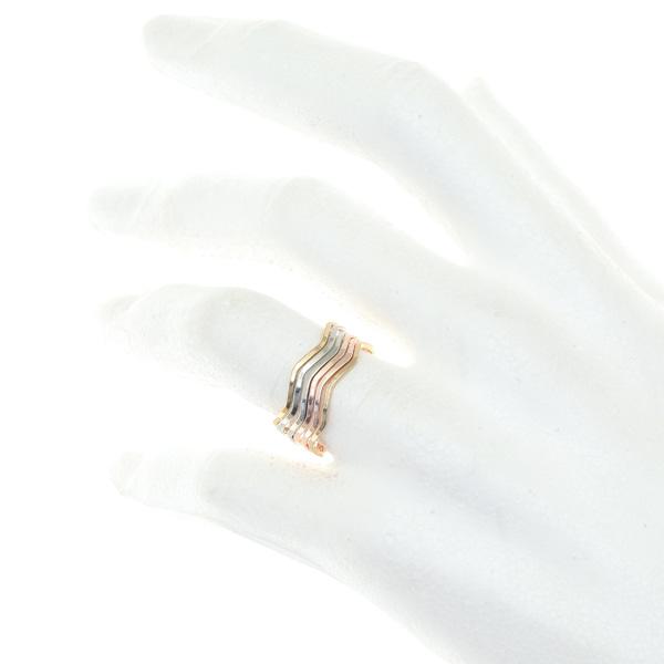 063 # 6 βερο Κυματιστό Δαχτυλίδι χρ. Νίκελ / Χρυσό / Ροζ Χρυσό