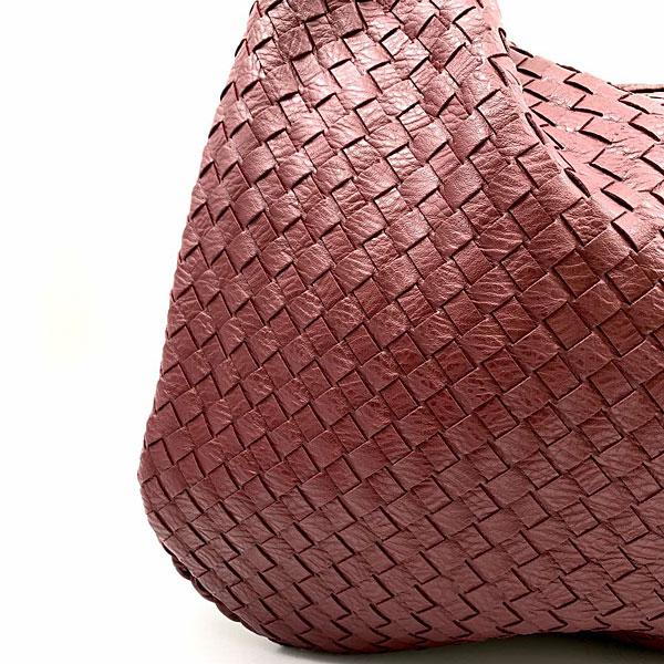 626 - Μεγάλη Πλεκτή Τσάντα Ώμου χρ. Μπορντώ (Χειμώνας 2020 - 2021)