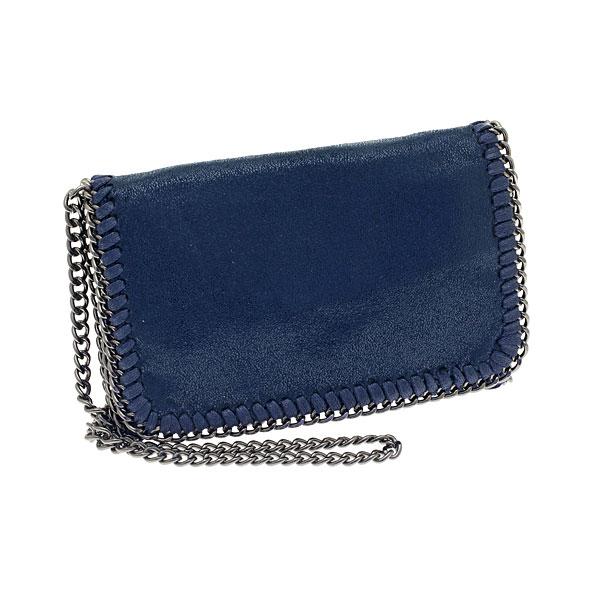 K - 6011 # Μικρό Σουέτ Τσαντάκι με Αλυσίδα χρ. Μπλε
