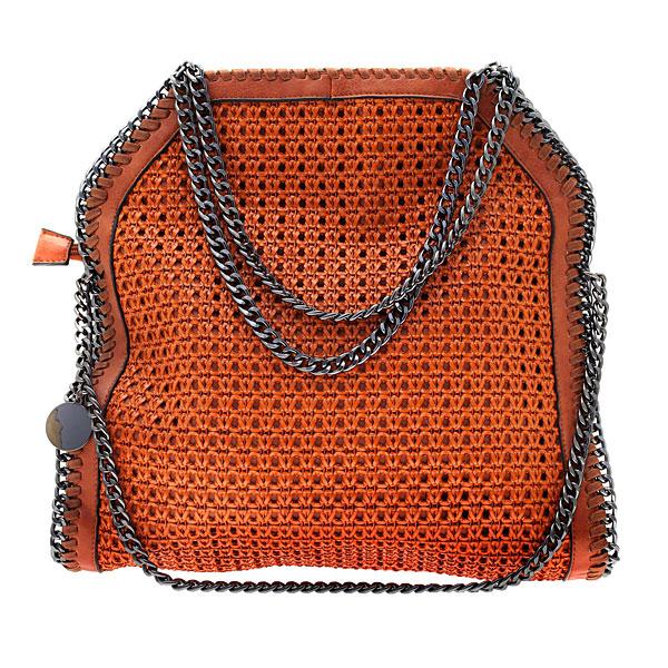 Art 2036 # Πλεκτή Τσάντα με Αλυσίδα χρ. Κάμελ
