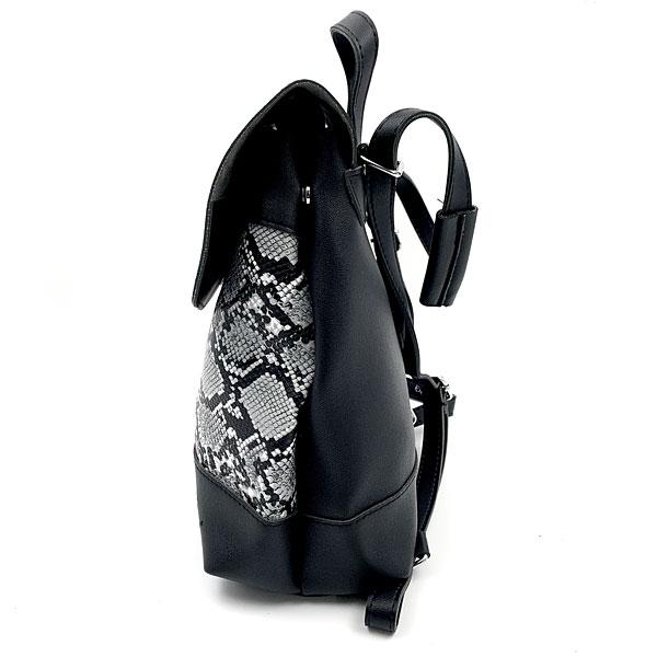 11633-3 Τσάντα Πλάτης με Μοτίβο Φίδι χρ. Μαύρο (Χειμώνας 2020 - 2021)