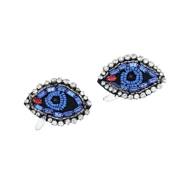 D 396 Διακοσμητικό Μάτι με Στρας χρ. Μπλε / Crystal