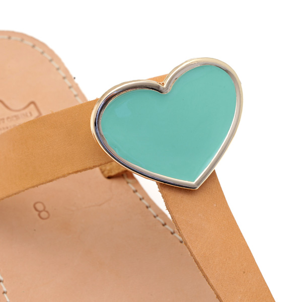 Dt 1280 Ακρυλική Καρδιά με Βίδα στο Πίσω Μέρος χρ. Aquamarine