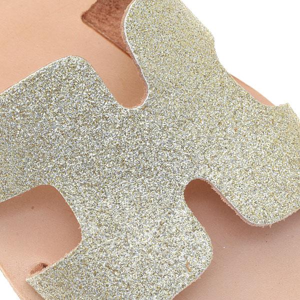 Δερμάτινο Σανδάλι Πάτμος από Glitter χρ. Χρυσό (Περιορισμένη Ποσότητα)